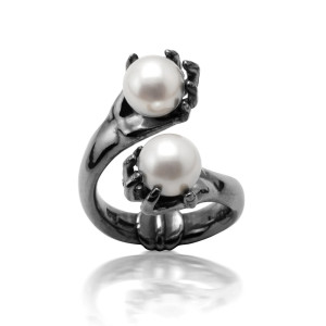abracadabra black pearl ring