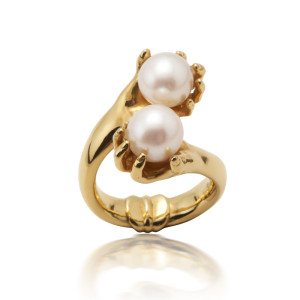 abracadabra gold pearl ring