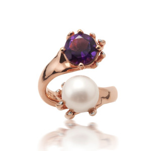 hocus pocus rose amethyst ring