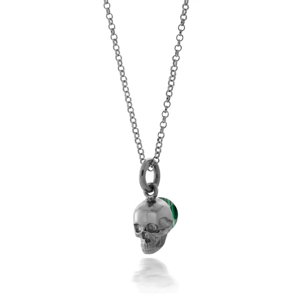 skullblack malachite pendant copy