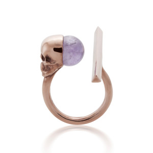 spear rose amethyst side